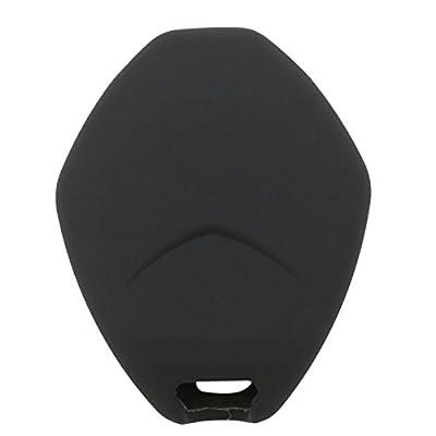 2Pcs Coolbestda Rubber 4buttons Key Fob Remote Cover Case Protector Keyless Jacket for Mitsubishi Eclipse 2006-2012 Endeavor 2006-2011 Galant 2006-2012 Lancer Outlander 2007-2013