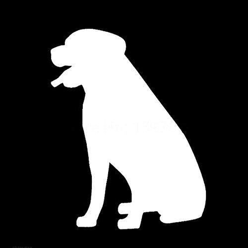 YWS Vinyl Sticker Decal - Rottweiler Dog Silhouette - Sticker Laptop Car Truck Window Bumper Notebook Vinyl Decal SMA5956