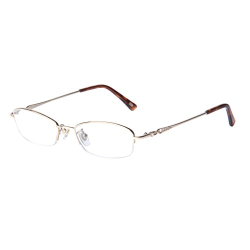 Liansan Designer Half Rim Rectangular Reading Glasses Vintage Eyeglasses All Strengths - Lightweight Eyeglasses Rimless
