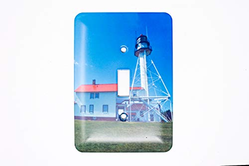 Fish Switchplate Cover - Whitefish Point Michigan Lighthouse Light Switch Plate