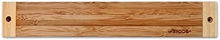 Arcos Soportes Magnéticos, Soporte Magnético para Cuchillos, Hecho de Bambú 300 x 45 mm, Color Marrón
