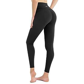 DOMODO Women High Waist Yoga Pants Tummy Control Workout Stretchy Active Leggings(Black,Medium)