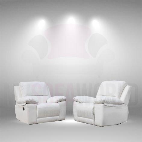 Valencia sillón reclinable y piel regenerada sofá suite ...