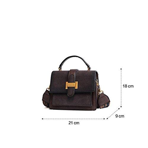 tigresse rétro l'épaule large bandoulière café sac à couleur sac partie Black sac Eq87fEr