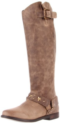 Betsey Johnson Women's LEIGH Boot,Grey leather,9 M US
