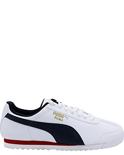 Puma Roma (PUMA Men's Roma Basic Sneaker, White-Night Sky, 9.5 M US)