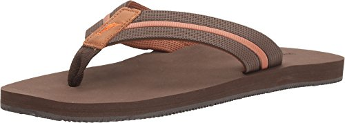Tommy Bahama Men's TAHEETI Flip-Flop, Dark Brown, 11 D US from Tommy Bahama