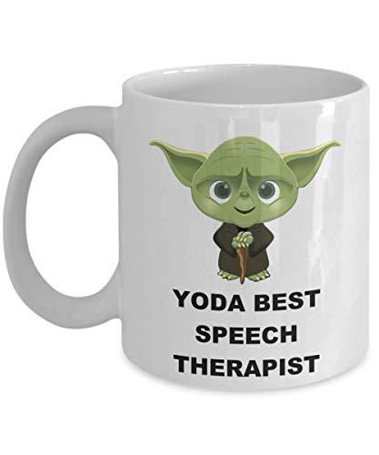 Yoda Best Speech Therapist - Christmas Birthday Party Gifts For Employee Staff Husband Wife Men Women Son Daughter Star Wars Jedi Coffee Mug
