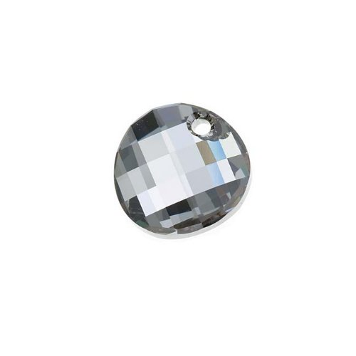 Swarovski Crystal, 6621 Twist Pendant 18mm, 1 Piece, Crystal Silver (Swarovski Crystal Twist)