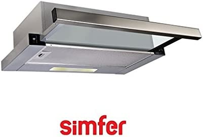Campana Simfer 8502 X telescópico abzugs Campana 2 motores Acero Inoxidable: Amazon.es: Grandes electrodomésticos
