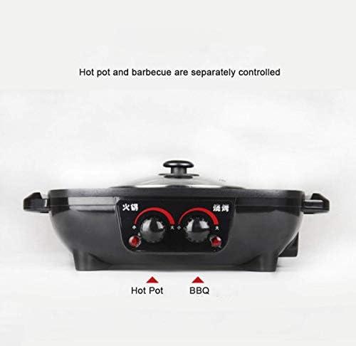 Hot Pot Électrique, Électrique Hot Pot Bbq Double Contrôle Soupe Rôti Sans Fumée Antiadhésive Électrique De Cuisson Pan Ménage Barbecue Vaisselle Pour La Maison