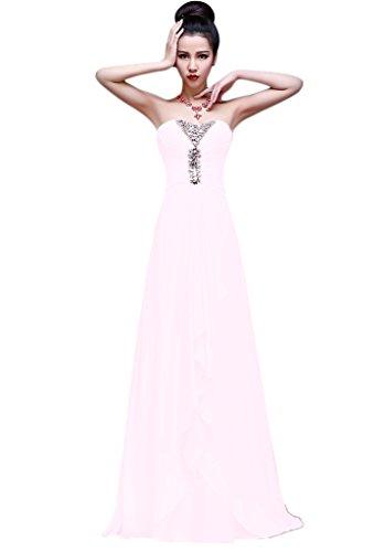 Vimans Damen A-Linie Kleid Weiß