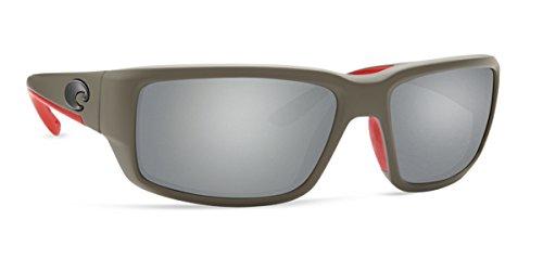 Costa Del Mar 580g FANTAIL Race Gray Sunglasses, Gray Silver Mirror - Costa Mirror Del Silver Fantail Mar