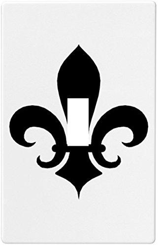 2019春の新作 ブラックFleur De Lisウォールプレート装飾スイッチプレートカバー1ギャング ブラックFleur。。 B00M8L6EOU。 B00M8L6EOU, 表参道レカン真珠パール専門店:0f03143a --- svecha37.ru