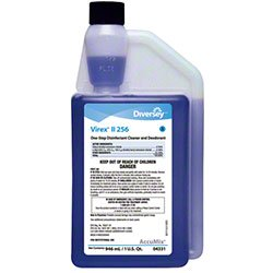 Diversey 4331 Virex Disinfectant Cleaner, Virex Hospital Disinfectant Attacks Dangerous Viruses -- Accumix Bottles (6/cs)