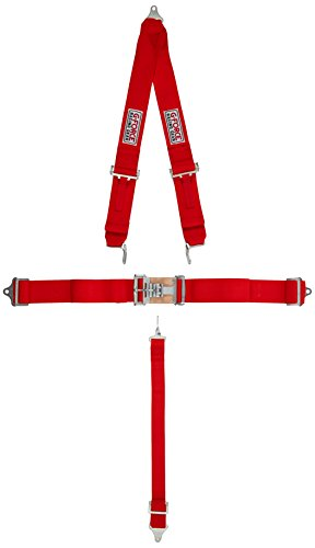G-force Harness - G-Force 6020RD Red 4-Point Pull-Down Latch and Link V-Type Harness Set