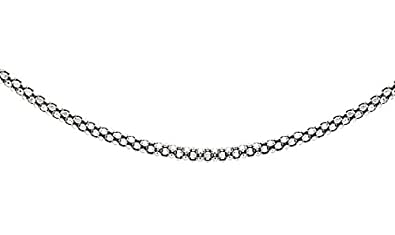 Tuscany 925 Silver Sterling Silver Round Belcher Chain Necklace IlvFMU