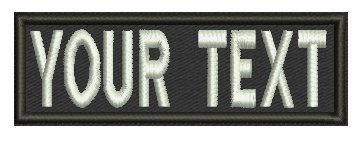 3 Inches Iron On/ Custom Name Tape / Personalized Military Name Tapes, Tactical - Velcro Letter