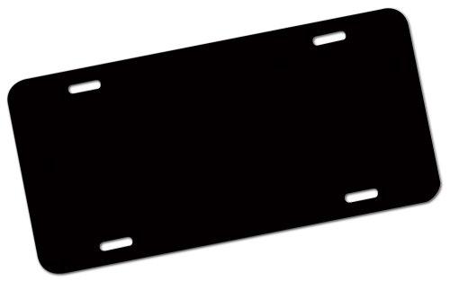 - 25 BLANK BLACK ALUMINUM LICENSE PLATES 6