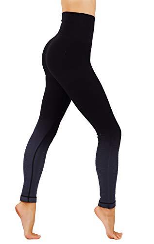 - CodeFit Yoga Gym Power Flex Dry-Fit High Compression Pants Workout Women's Leggings (L USA 8-12, CF 702-BLK)