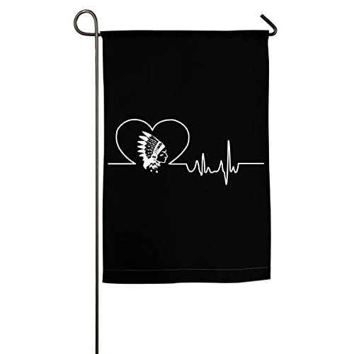 LLiYing-D Heartbeat Native American Printed Celebration Flag -