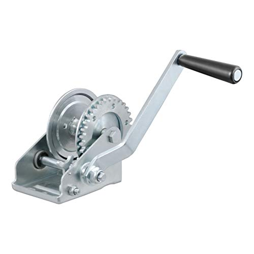 CURT 29423 Manual Hand Crank Boat Trailer Winch, 900 lbs. Capacity