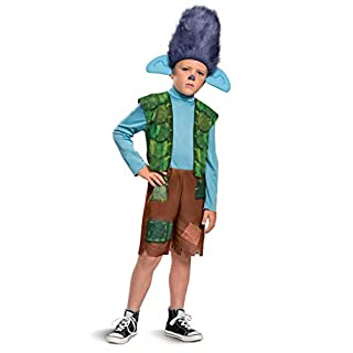 Trolls World Tour Branch Costume, Trolls World Tour Children's Classic Dress Up Outfit for Boys, Kids Size Extra Small (3T-4T)