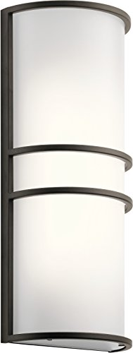 Kichler Lighting 11315OZLED Two Light Wall Sconce, Olde - Sconce Light 2 Olde World