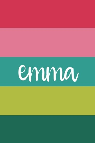 Emma (6x9 Journal): Lined Writing Notebook with Personalized Name, 120 Pages – Magenta, Cotton Candy Pink, Teal, Chartreuse, Emerald (Emmas Gift)