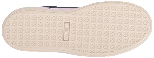 PUMA Unisex-Kids Suede Platform SNK Sneaker, Peacoat-Winsome Orchid Team Gold, 5 M US Big Kid by PUMA (Image #3)