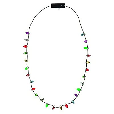Lotsa Lites Christmas Holiday Flashing Light Bulbs Necklace (sold individually) from Carol Wright Gifts