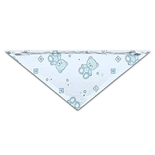 WuliWasw Dog&Cat Bandana Teddy Bears and Toys with Letters Breathable Pet Cat Dog Triangle Scarf by WuliWasw