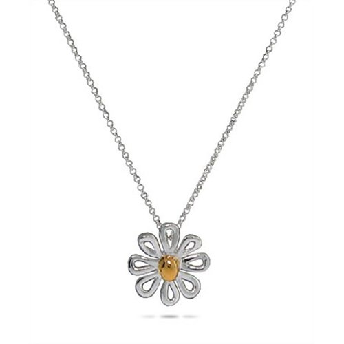 Sterling Silver Daisy Pendant - Items Tiffany Clearance