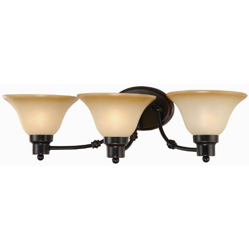 (Hardware House Bristol Series 3 Light Oil Rubbed Bronze 24-1/2 Inch by 7-1/2 Inch Bath/Wall Lighting Fixture : 16-7307)