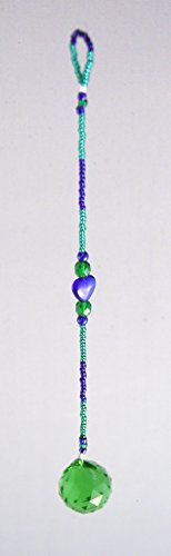 Home Hanging Decor Healing Crystals Beads & Green Ball Sedona Vortex Energy by Oh My Gosh !