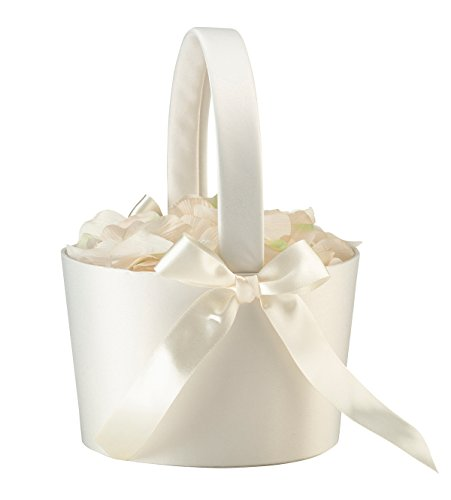Lillian Rose FB100 C Elegant Simple Large Flower Girl Basket , Cream
