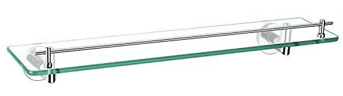 Aquatrend 3687 Bathroom Set WALL HANGING Brass Frame Glass Shelf Chrome -