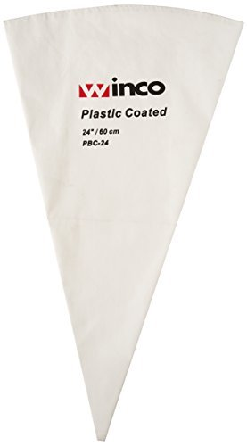 Winco PBC-24 Pastry Bag Cotton with Plastic Coating, 24-Inch by Winco