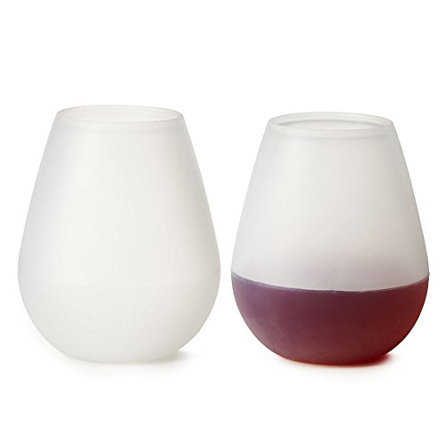 Ivation Silicone Wine Glasses Set