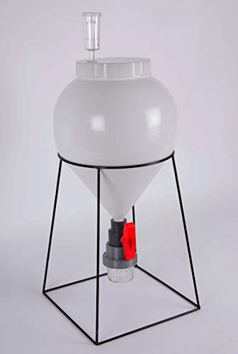FastFerment Conical Fermenter - Home-Brew Kit - BPA Free Food Grade Primary Carboy Fermenter. Perfect 3 Gallon fermenter or a Small Batch 1 Gallon fermenter. Stand and All Hardware incl (3 Gallon) by FastFerment (Image #2)