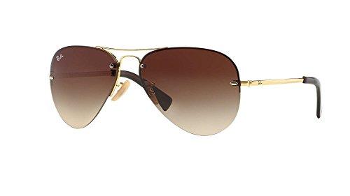 Ray Ban RB3449 001/13 59 Arista/Brown Gradient Aviator Sunglasses Bundle-2 - Ray Folded Bans