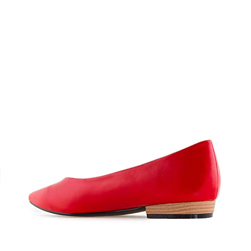 Shoes in Andres AM5314 Leather Faux Large Flat Machado Faux Leather Sizes Red gftfqnUxwI