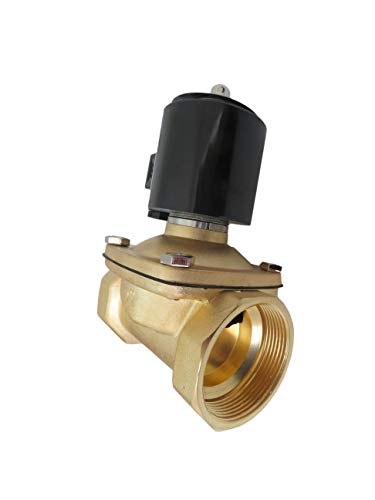 """2"""" Inch 12V DC Brass Electric Solenoid Valve 12 Volt VDC"""