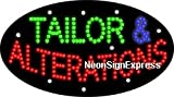 Animated Tailor & Alterations LED Sign offers