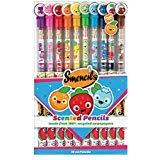 Scentco Graphite Smencils 10-Pack of HB no. 2 Scented Pencils