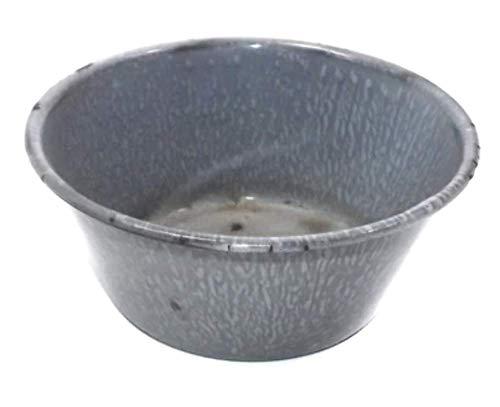 Antique Small Gray Splatter Porcelain Enamel Graniteware Bowl - 5 1/4