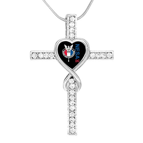 M100% Cross Love Heart Infinity God 3D Print Jewelry National Eagle Scout Association Cross Pendant Necklace