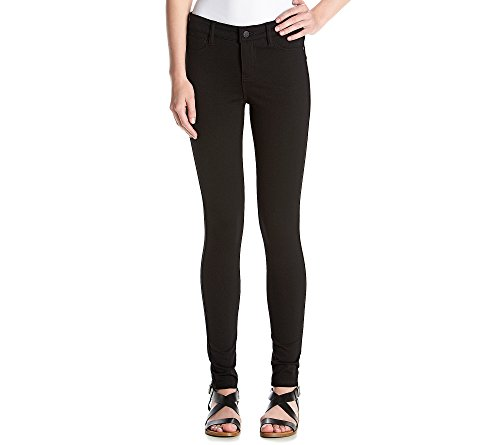 Celebrity Pink Jeans Women's Power Ponte Mid Rise Super Skinny, Black, 5
