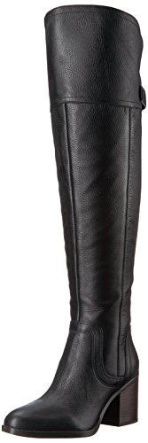 Franco Sarto Womens Ollie Wide Calf Over De Knielaars Zwart