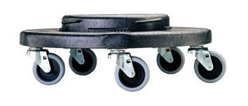Rubbermaid 640-2640-BLK Brute Dolly for 2620, 2632, 2643, 2655 Containers, Black